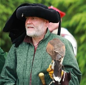 Simon with hawk