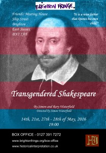 transgendered shakespeare poster and flyer back